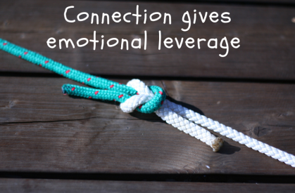 Connection gains emotional leverage